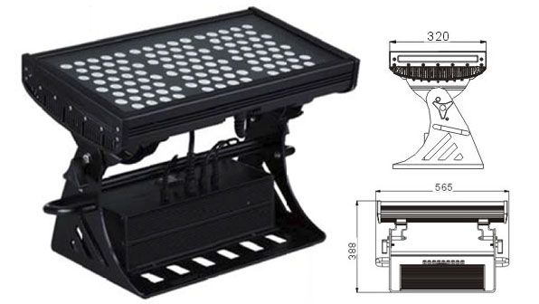 Guangdong udhëhequr fabrikë,LED dritë përmbytjeje,250W Sheshi IP65 RGB LED dritë nga përmbytjet 1, LWW-10-108P, KARNAR INTERNATIONAL GROUP LTD