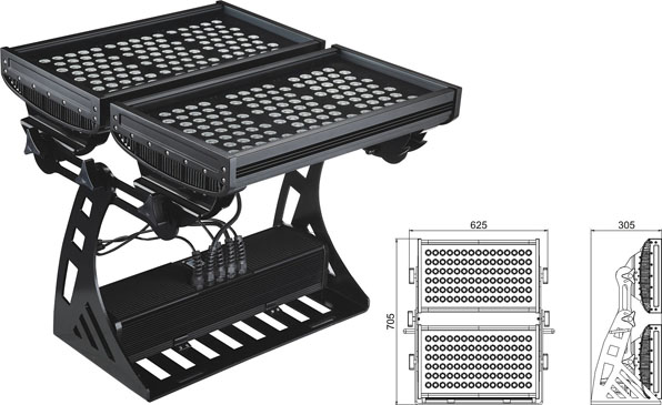 Guangdong ya jagoranci kamfanin,LED hasken hasken wuta,500W Square IP65 DMX LED bango wutan 2, LWW-10-206P, KARNAR INTERNATIONAL GROUP LTD