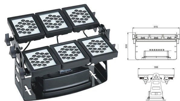 Guangdong udhëhequr fabrikë,e udhëhequr nga drita industriale,Përmbytje 220W Square LED lisht 1, LWW-9-108P, KARNAR INTERNATIONAL GROUP LTD